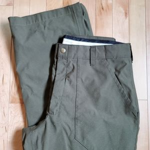 L.L.Bean Nylon Gortex Green Lined Pants SZ 35